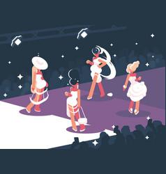 fashion show on scene vector image
