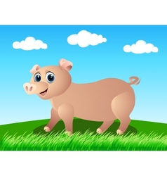 pig in the wild vector image vector image