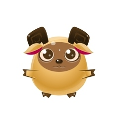 Ram Baby Animal In Girly Sweet Style vector image vector image