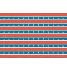 Stripes and stars background USA flag design vector image vector image