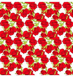 summer seamless wallpaper with roses vector image vector image