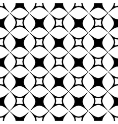 The pattern of black and white stylized squares vector image