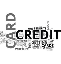 are you ready for a credit card text word cloud vector image