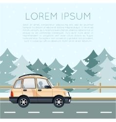 Car travel banner vector image