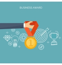 Flat business concept vector image