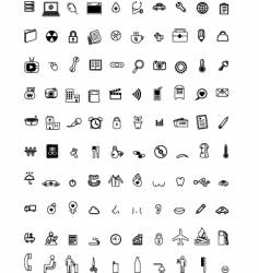 hundred computer icons vector image vector image