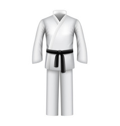 karate kimono isolated on white vector image