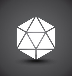 3d Geometric object vector image