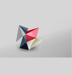 Abstract background - geometric origami style vector