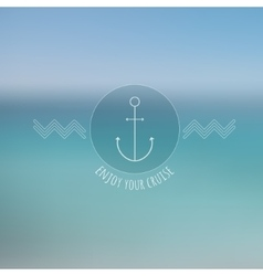 Abstract blurred background thin nautical logo vector
