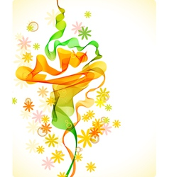 abstract floral background with wave vector image