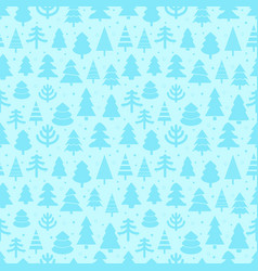 Abstract pine trees seamless pattern vector