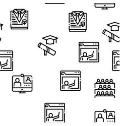 Academy educational seamless pattern vector