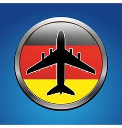 Air flight vector image