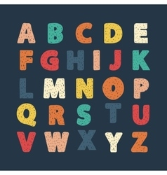 Alphabet hand draw vector