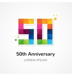 anniversary - abstract colorful icons and elements vector image