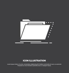 archive catalog directory files folder icon glyph vector image