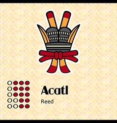 Aztec symbol Acatl vector image