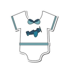 Baby onesie icon vector