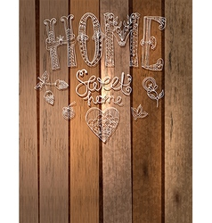 Beautiful text Home sweet home with flowers hand l vector image vector image