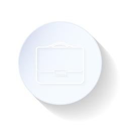 Briefcase thin lines icon vector image