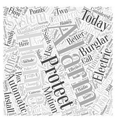 Burglar alarm system manufacturer Word Cloud vector