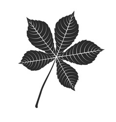 chestnut leaf icon vector image