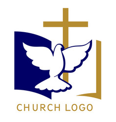 Church logo symbol christianity cross vector
