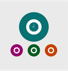 clock icon simple vector image
