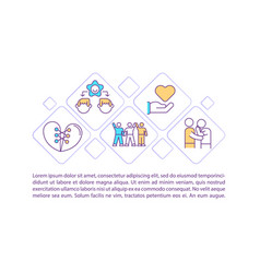 Community support concept icon with text vector