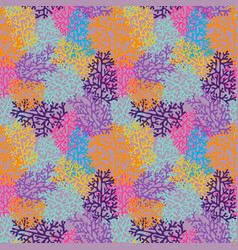 Corals on a pink background colorful seamless vector
