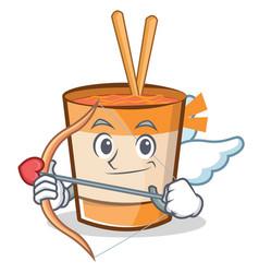 Cupid cup noodles character cartoon vector