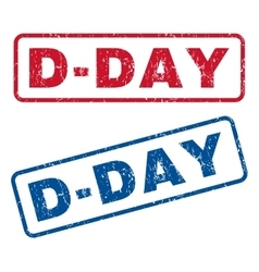 D-day rubber stamps vector