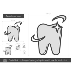 Dental care line icon vector