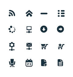 development soft icons set vector image