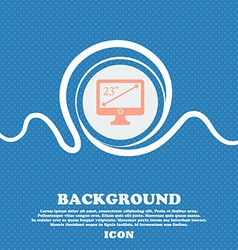 Diagonal of the monitor 23 inches icon sign Blue vector
