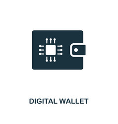 digital wallet icon creative element design from vector image