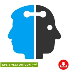 Dual Head Connection Eps Icon vector