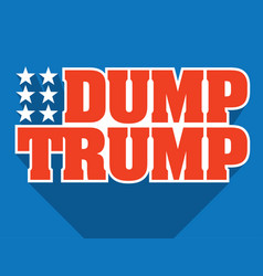 Dump trump design vector