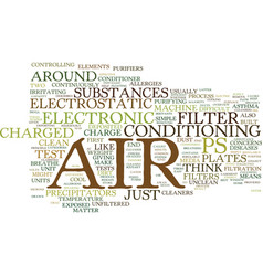 Electronic air filters an overview text vector