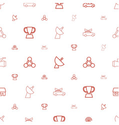 Eps icons pattern seamless white background vector
