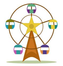 ferris wheel vector image