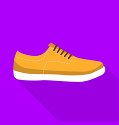 fitness shoe icon flat style vector image