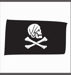 flag skull vector image
