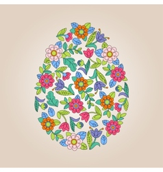 Flower tracery egg vector