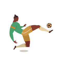 football soccer player isolated character of vector image