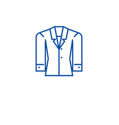 formal jacket line icon concept formal jacket vector image