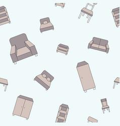 furniture background 05 vector image