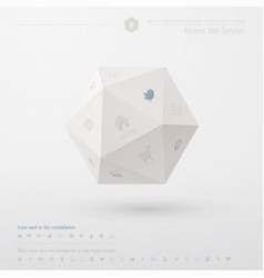 Geometric minimal web template vector