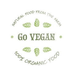 Go Vegan icon vector